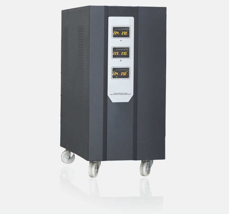 15KVA - 90KVA Servo Controlled Voltage Stabilizer , Three Phase Automatic Voltage Regulator